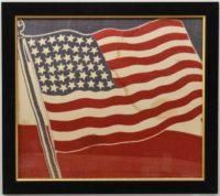 RARE 43 STAR AMERICAN FLAG BANNER BUNTING