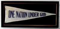 "67 Year Old - ""One Nation Under God"" Wool Banner"