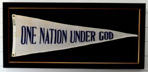 """67 Year Old - """"One Nation Under God"""" Wool Banner"""