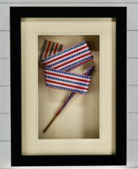 """Antique 1876 Flag """"Popper"""" Streamer, Americana"""