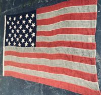 Antique 34 Star American Flag
