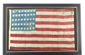 Rare Antique 40 Star American Flag / #15748